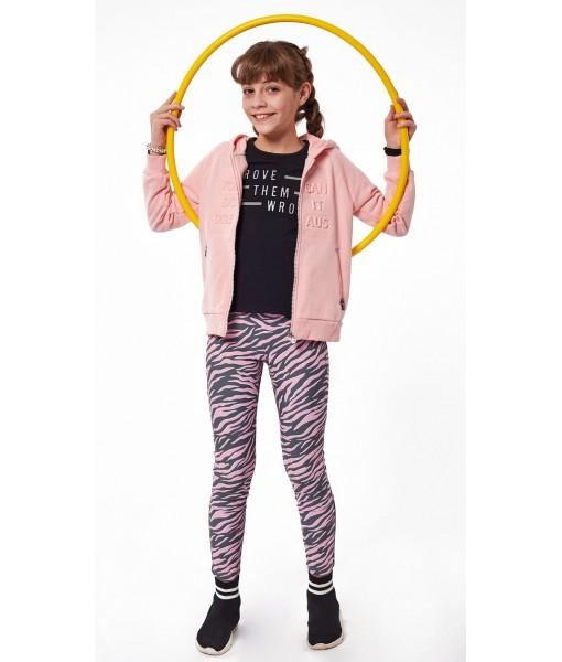 Σετ ζακέτα μπλουζάκι κοντομάνικο κολάν Ebita κορίτσι 215026