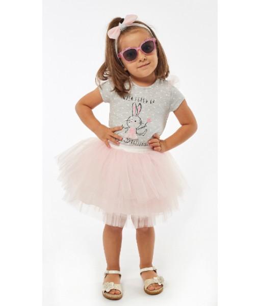 Σετ κορμάκι φούστα κορδέλα ΕΒΙΤΑ κορίτσι 214527