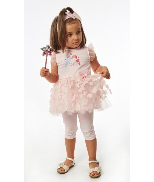 Σετ φόρεμα κάπρι κορδέλα ΕΒΙΤΑ κορίτσι 214529