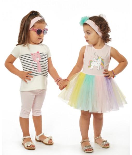Σετ φόρεμα κορδέλα ΕΒΙΤΑ κορίτσι 214523