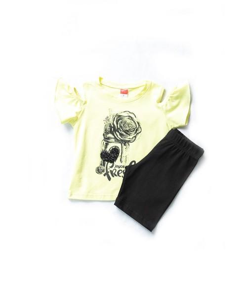 Σετ μπλούζα και ποδηλατική βερμούδα κορίτσι Joyce 201151