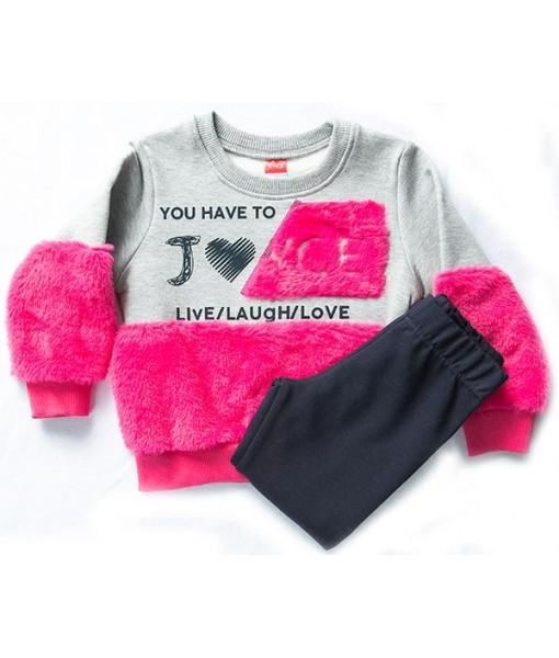 Σετ μπλούζα και φόρμα κορίτσι Joyce 202107