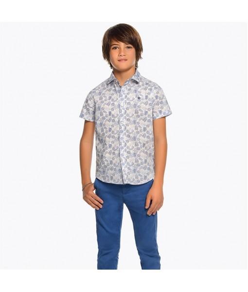 Παντελόνι λοξότσεπο Mayoral μακρύ slim fit αγόρι μπλε 29-00530-010