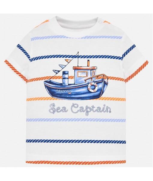 Μπλούζα κοντομάνικη καράβι Mayoral baby αγόρι 29-01018-074