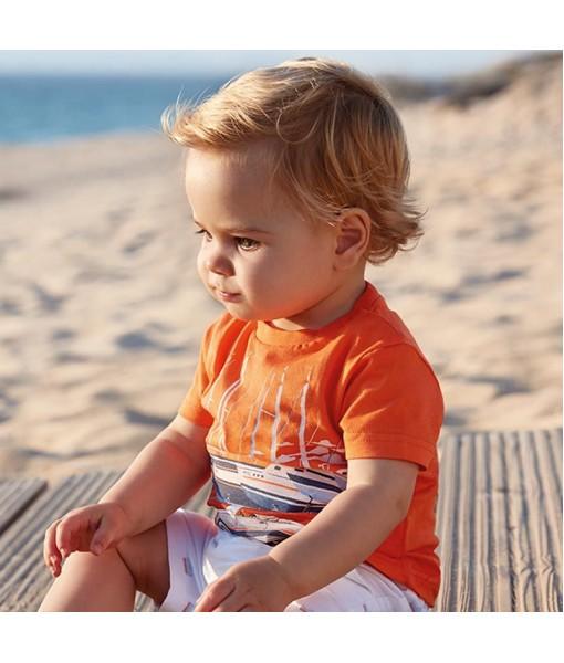 Μπλούζα κοντομάνικη baby αγόρι M1020036