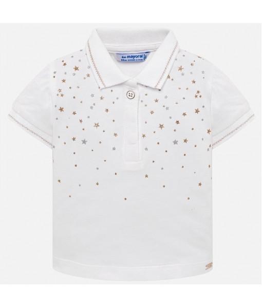 Πόλο κοντομάνικο αστέρια Mayoral baby κορίτσι 29-01108-040