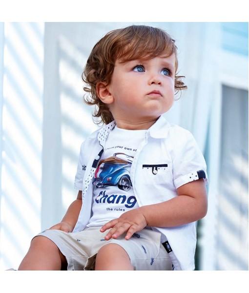 Πουκάμισο κοντομάνικο baby αγόρι M1127090