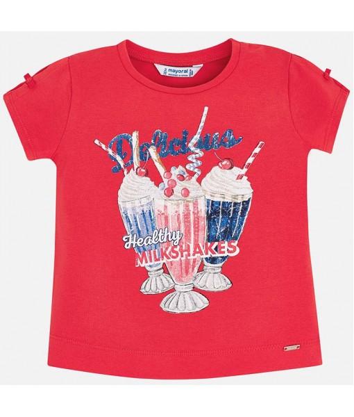 Μπλούζα κοντομάνικη σχέδιο milkshake Mayoral κορίτσι 29-03003-064