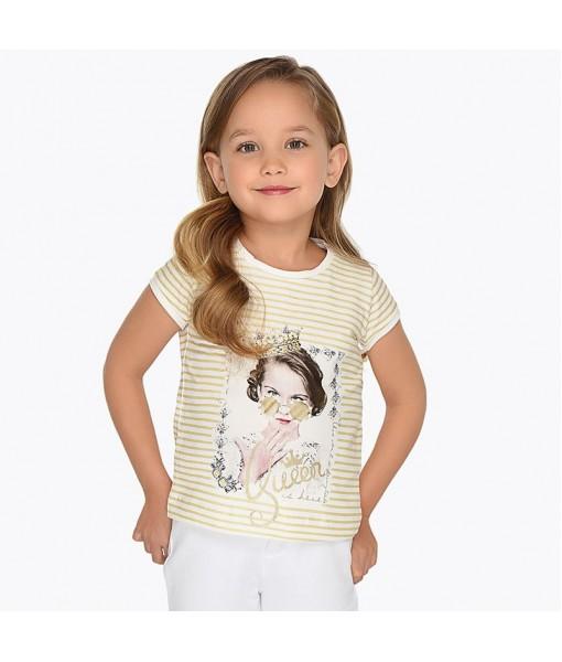 Μπλούζα ριγέ κοντομάνικη Mayoral κορίτσι M3010038