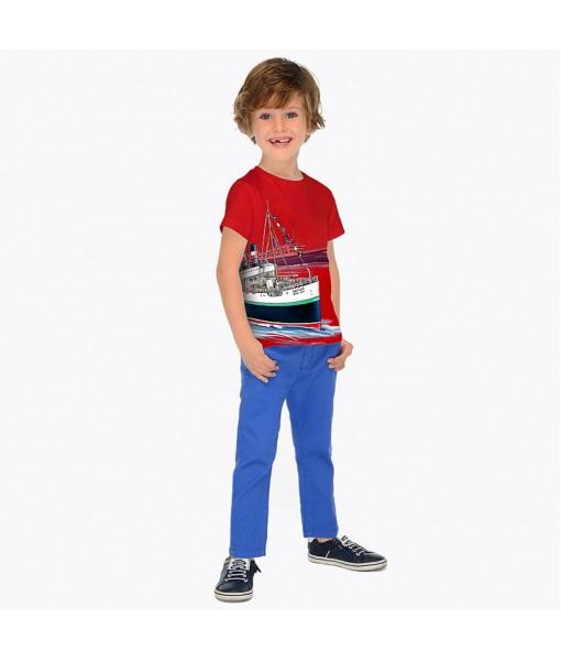Παντελόνι μακρύ slim fit με ζώνη Mayoral αγόρι 29-03516-057