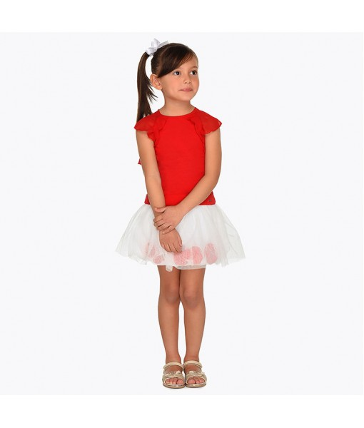 Σετ φούστα τούλι και μπλούζα Mayoral κορίτσι 29-03955-037