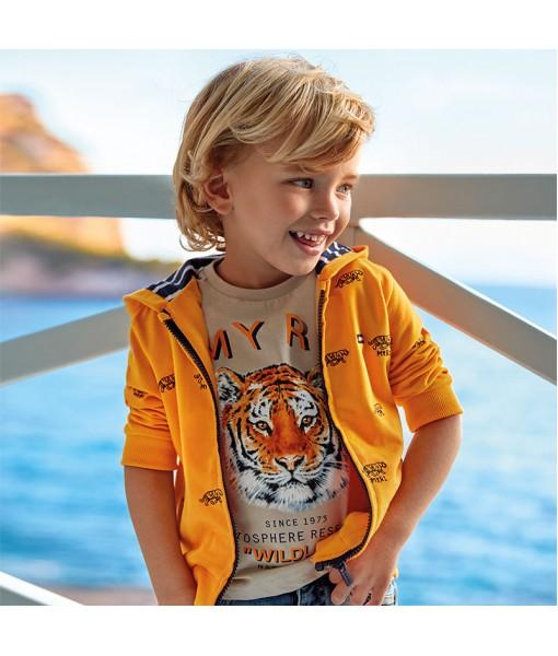 Μπλούζα κοντομάνικη τίγρης αγόρι Mayoral 20-03052-024