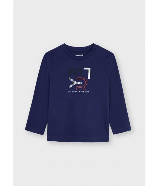 Μπλούζα ECOFRIENDS μακρυμάνικη basic Mayoral mini αγόρι 11-00173-081