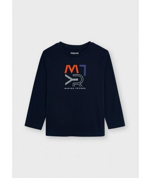 Μπλούζα ECOFRIENDS μακρυμάνικη basic Mayoral mini αγόρι 11-00173-086