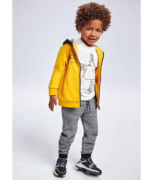 Σετ ζακέτα και 2 παντελόνια φόρμες Mayoral mini αγόρι 11-00907-040