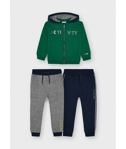 Σετ ζακέτα και 2 παντελόνια φόρμες Mayoral mini αγόρι 11-00907-042