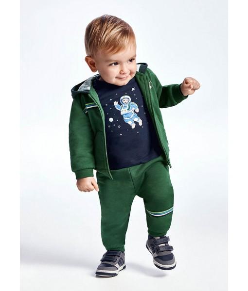 Σετ ζακέτα και 2 παντελόνια φόρμες Mayoral baby αγόρι 11-00918-079