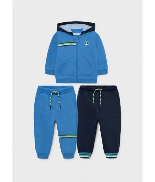 Σετ ζακέτα και 2 παντελόνια φόρμες Mayoral baby αγόρι 11-00918-082