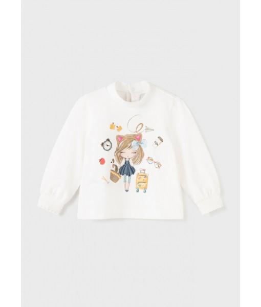 Μπλούζα ECOFRIENDS μακρυμάνικη Mayoral baby κορίτσι 11-02080-056
