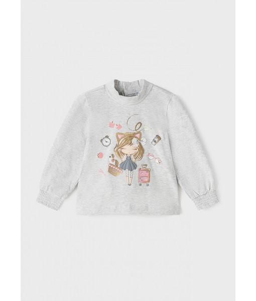 Μπλούζα ECOFRIENDS μακρυμάνικη Mayoral baby κορίτσι 11-02080-058