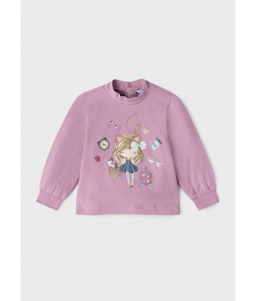 Μπλούζα ECOFRIENDS μακρυμάνικη Mayoral baby κορίτσι 11-02080-059