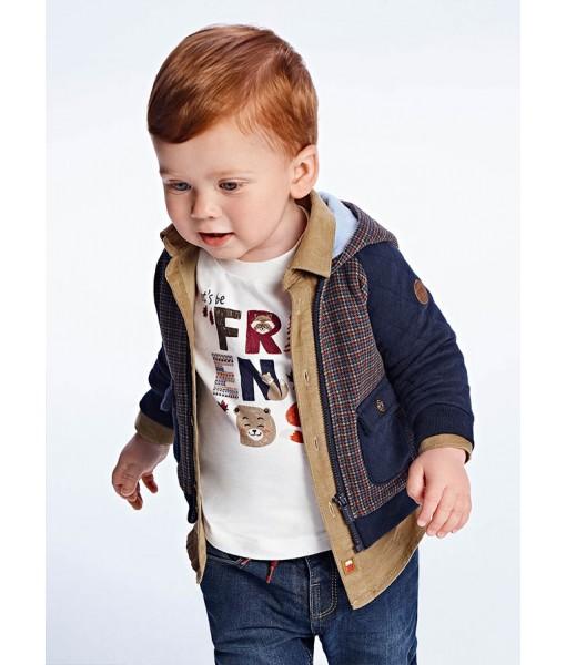 Ζακέτα συνδυασμένη Mayoral baby αγόρι 11-02423-081
