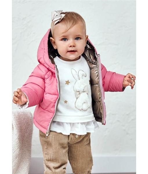 Μπουφάν ECOFRIENDS διπλής όψης Mayoral baby κορίτσι 11-02441-023