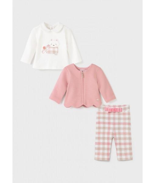 Σετ κολάν ζακέτα ECOFRIENDS 3 τεμάχια Mayoral baby κορίτσι 11-02702-085