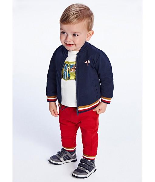 Σετ ζακέτα και δύο παντελόνια φόρμες Mayoral αγόρι 11-02826-010