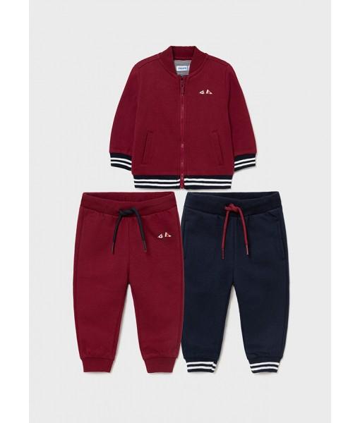 Σετ ζακέτα και δύο παντελόνια φόρμες Mayoral αγόρι 11-02826-011