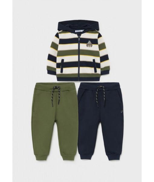 Σετ ζακέτα και δύο παντελόνια φόρμες Mayoral αγόρι 11-02828-021