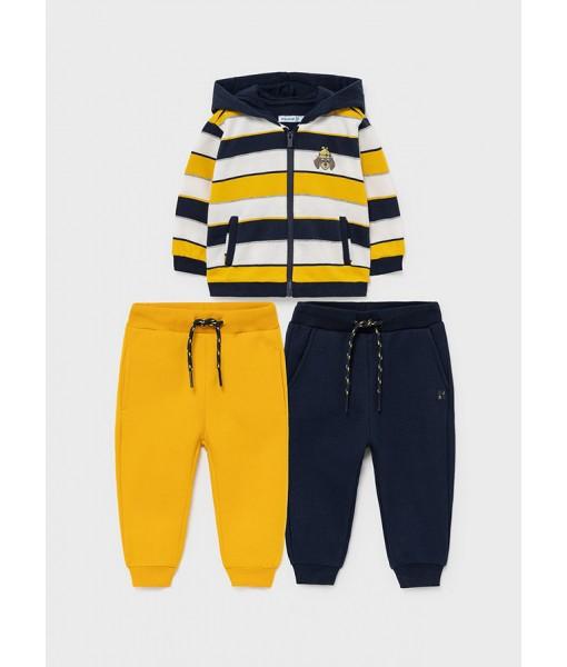 Σετ ζακέτα και δύο παντελόνια φόρμες Mayoral αγόρι 11-02828-022