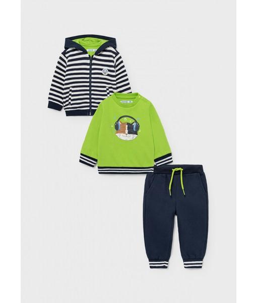 Σετ 3 τεμάχια ζακέτα φούτερ και παντελόνι φόρμα Mayoral αγόρι 11-02830-089