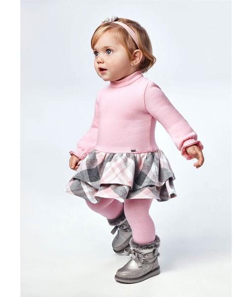 Φόρεμα καρό Mayoral baby κορίτσι 11-02908-042