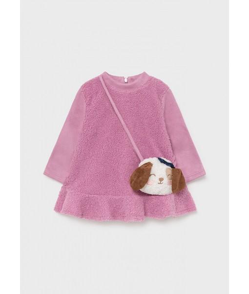 Φόρεμα με τσαντάκι Mayoral baby κορίτσι 11-02921-075