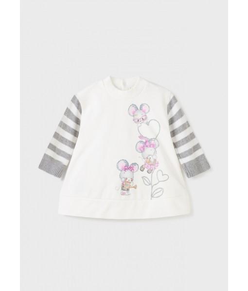 Φόρεμα συνδυασμένο Mayoral baby κορίτσι 11-02927-071