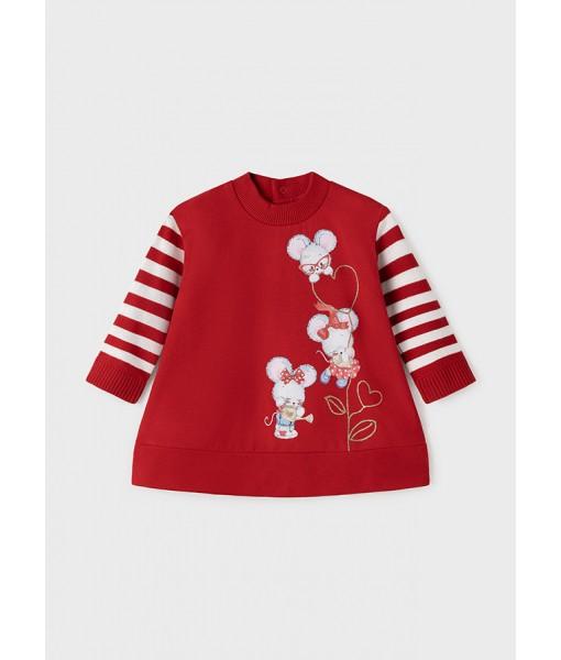 Φόρεμα συνδυασμένο Mayoral baby κορίτσι 11-02927-073