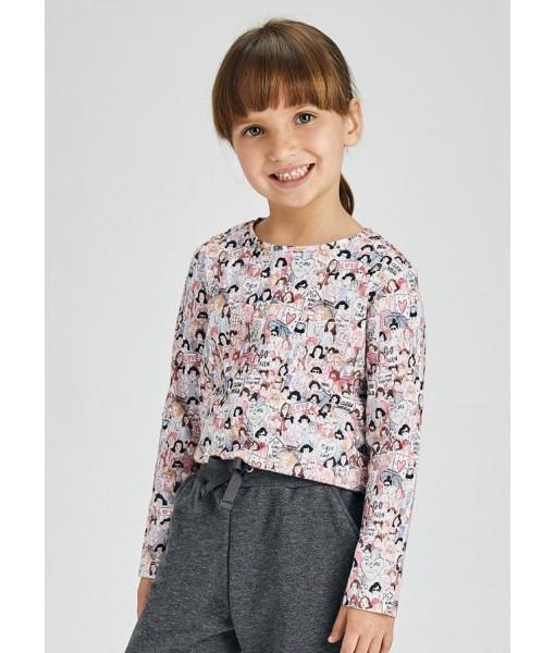 Σετ 2 μπλούζες μακρυμάνικες Mayoral mini κορίτσι 11-04010-070