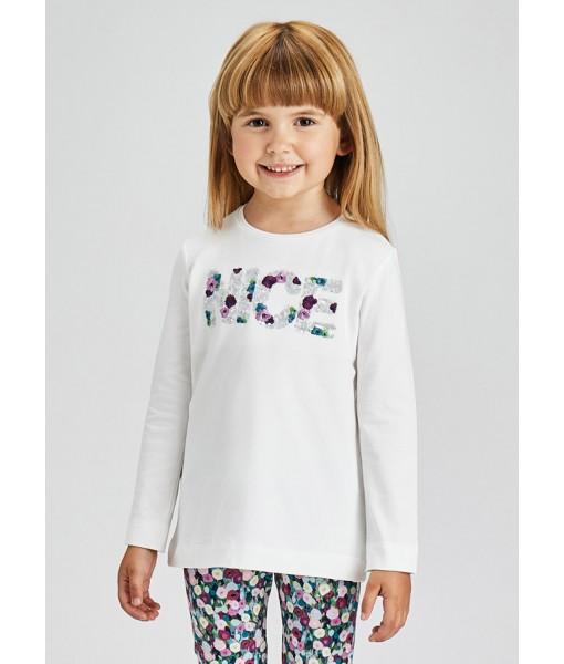 Μπλούζα ECOFRIENDS μακρυμάνικη μεταξοτυπία Mayoral mini κορίτσι 11-04013-035