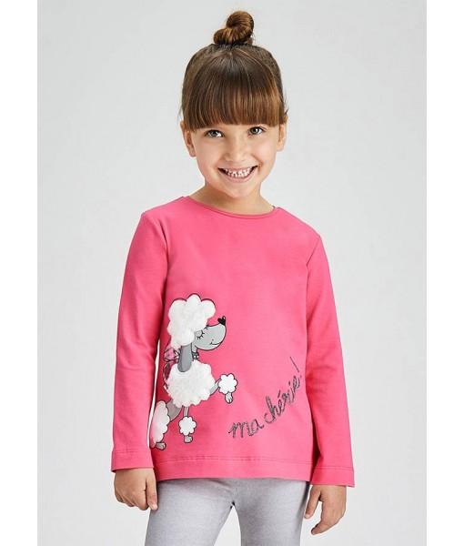 Μπλούζα ECOFRIENDS μακρυμάνικη μεταξοτυπία Mayoral mini κορίτσι 11-04013-037