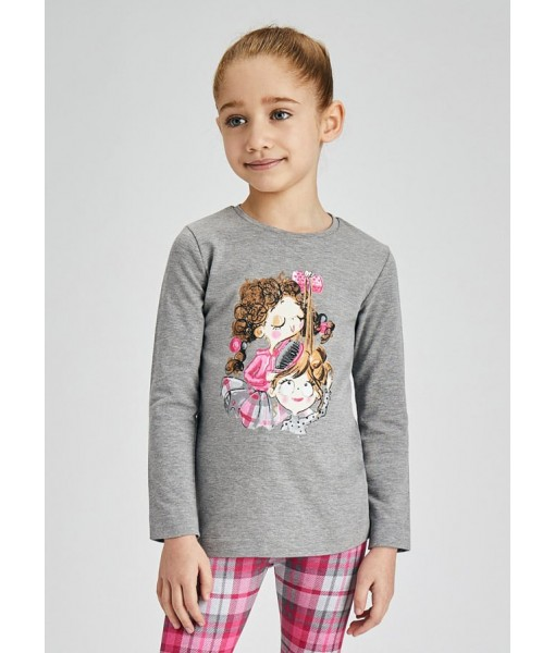 Μπλούζα ECOFRIENDS μακρυμάνικη μεταξοτυπία Mayoral mini κορίτσι 11-04014-041