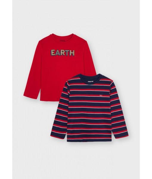 Σετ 2 μπλούζες ECOFRIENDS Mayoral mini αγόρι 11-04082-020