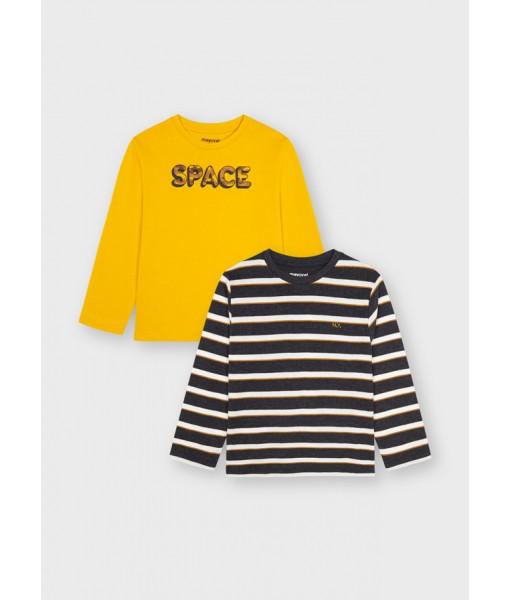 Σετ 2 μπλούζες ECOFRIENDS Mayoral mini αγόρι 11-04082-021