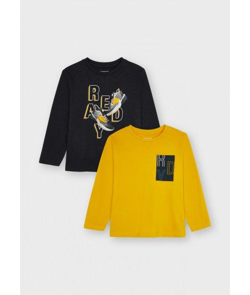 Σετ 2 μπλούζες ECOFRIENDS Mayoral mini αγόρι 11-04087-043