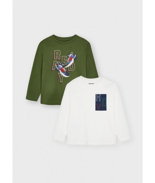 Σετ 2 μπλούζες ECOFRIENDS Mayoral mini αγόρι 11-04087-044