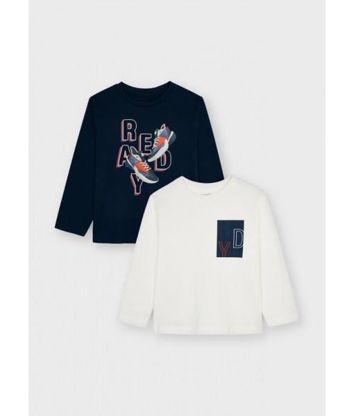 Σετ 2 μπλούζες ECOFRIENDS Mayoral mini αγόρι 11-04087-045