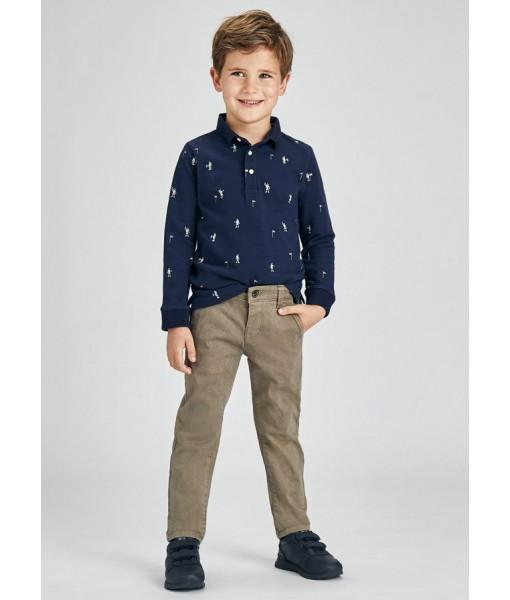 Παντελόνι μακρύ καπαρτινέ σταμπωτό Mayoral mini αγόρι 11-04564-090
