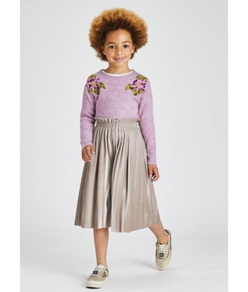 Παντελόνι μακρύ πιέτες Mayoral mini κορίτσι 11-04574-072