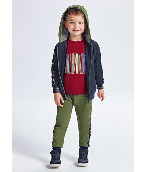 Σετ ζακέτα και 2 παντελόνια φόρμες Mayoral αγόρι 11-04828-053