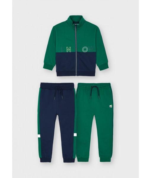 Σετ ζακέτα και 2 παντελόνια φόρμες Mayoral αγόρι 11-04829-060